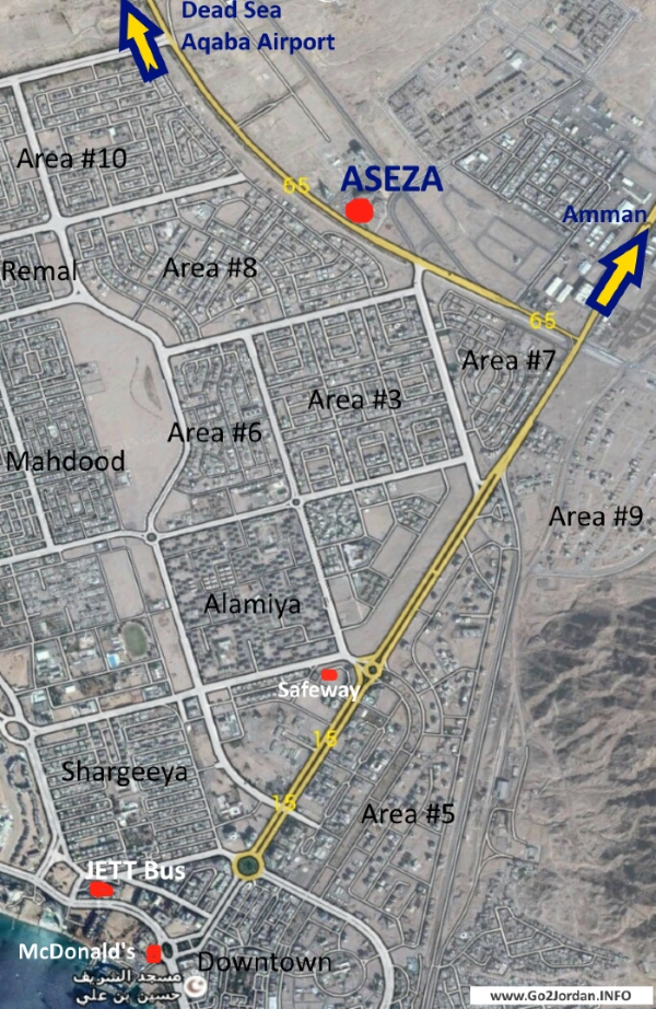 aseza office building location map aqaba