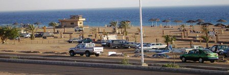Aqaba public beach view